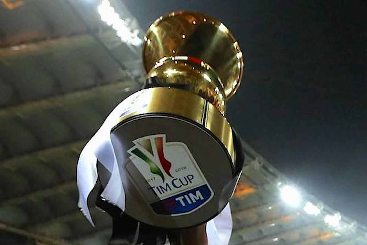 Calcio. Da sabato a lunedì si disputano gli ottavi di Coppa Italia