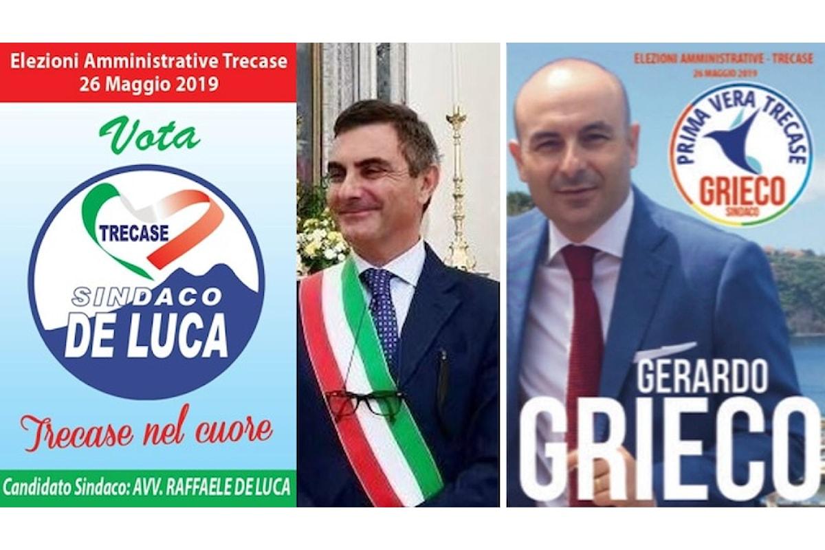 Si vota per il sindaco a Trecase al Vesuvio tra le liste dei candidati De Luca e Grieco