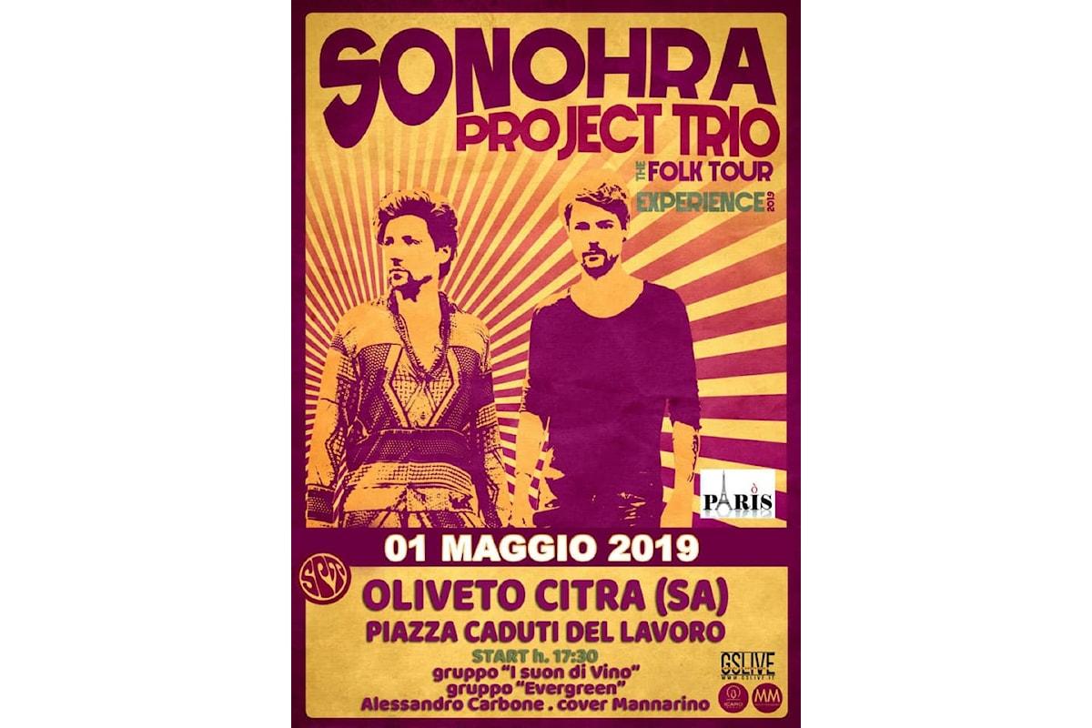 I Sonohra Project Trio Un tour all'insegna del folk e del blues - A Salerno per il concerto del 1° Maggio