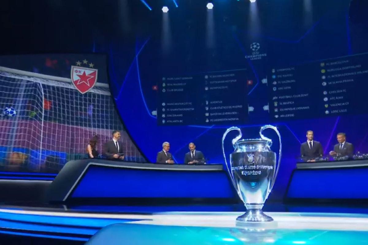 Tutti gli accoppiamenti per la fase a gironi della Champions League 2019/2020