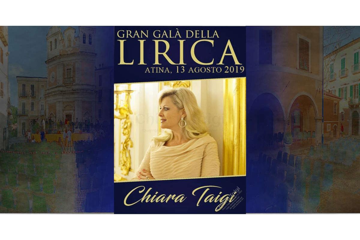CHIARA TAIGI, La Regina dell'Opera: Gran Gala Lirico 2019 ad Atina