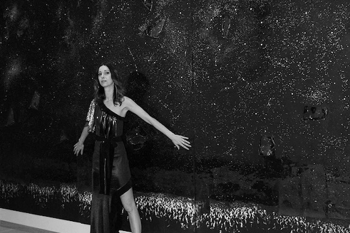 SpaziAmo, la collezione couture 'Stardust' di Fabiana Gabellini in passerella con una testimonial d'eccezione: la splendida attrice Antonella Salvucci