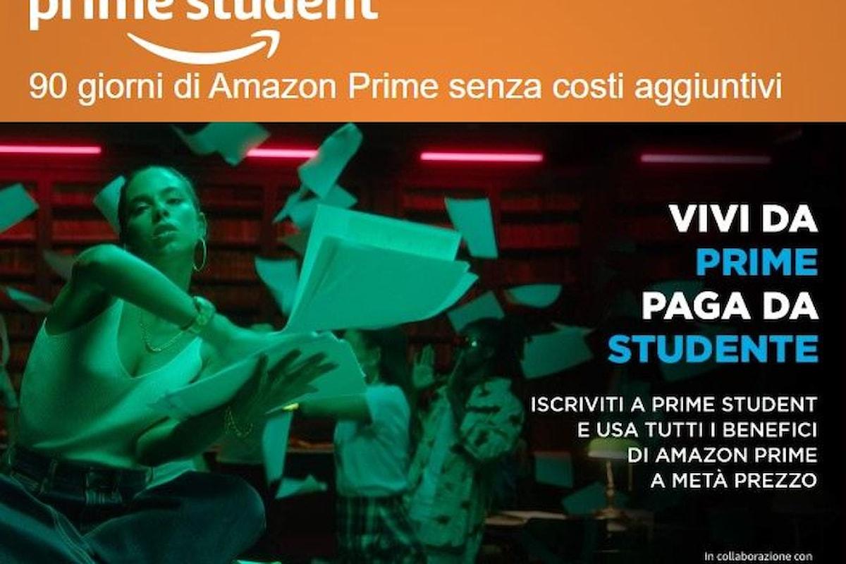 Amazon Prime Student sbarca in Italia: gli studenti universitari avranno Amazon Prime a metà prezzo e gratis per 90 giorni