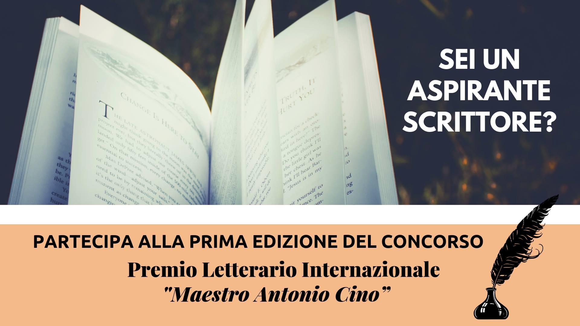 """Prima edizione del Premio Letterario Nazionale """"Maestro Antonio Cino"""""""