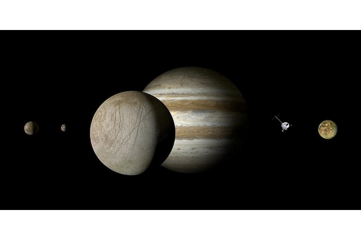 NASA, confermata la presenza di vapore acqueo su Europa, il satellite di Giove
