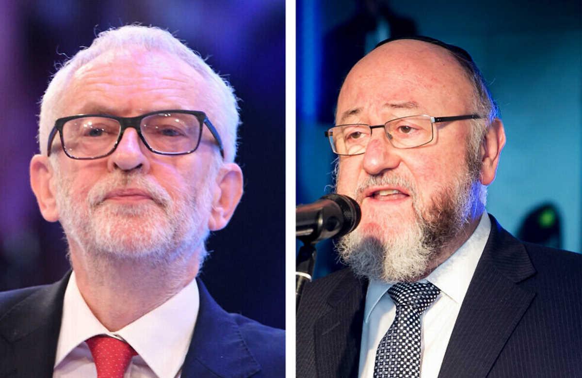 Ephraim Mirvis, massima autorità ebraica in Gran Bretagna, accusa il Labour di antisemitismo