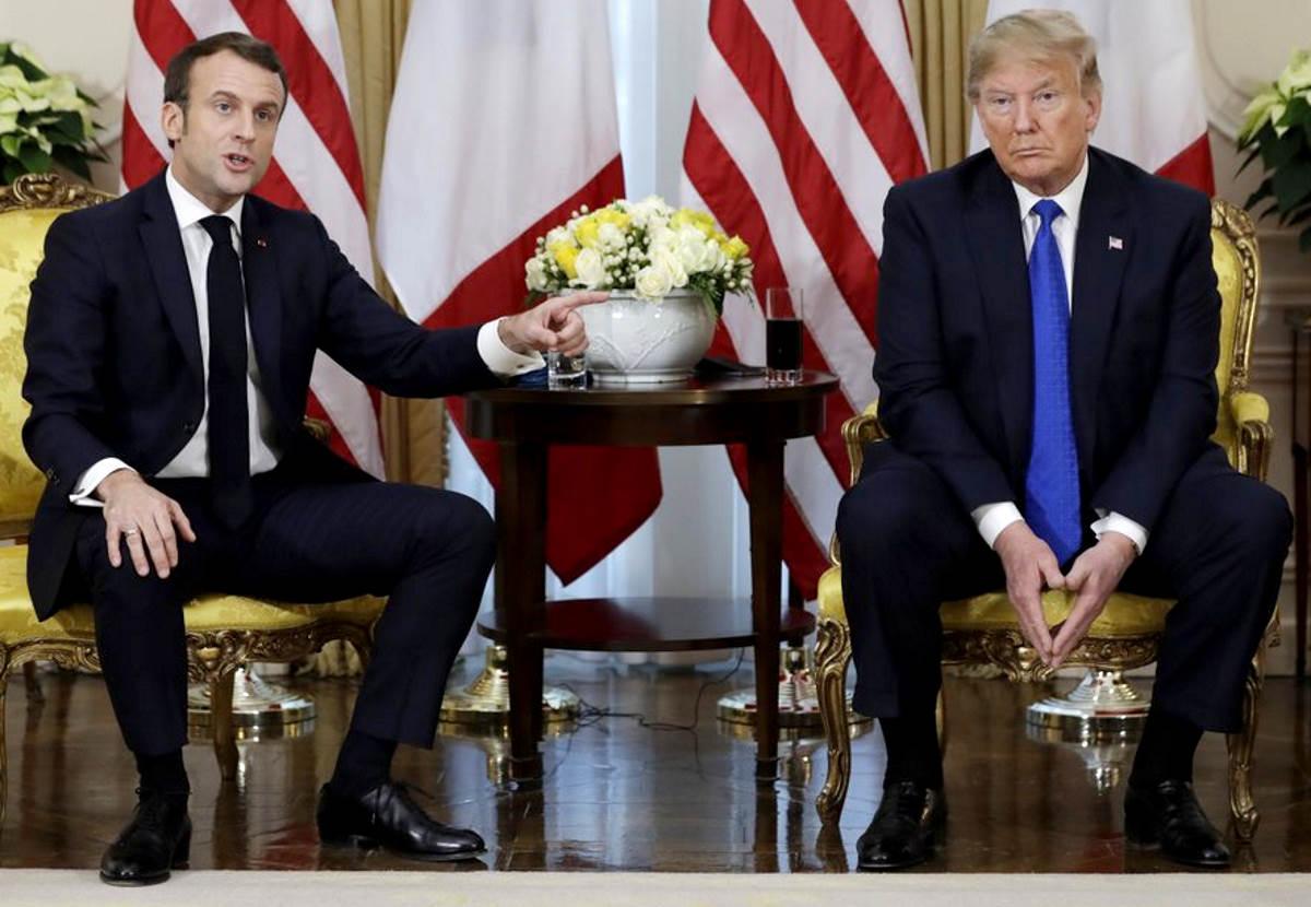 Incontro burrascoso tra Trump e Macron al vertice Nato di Watford