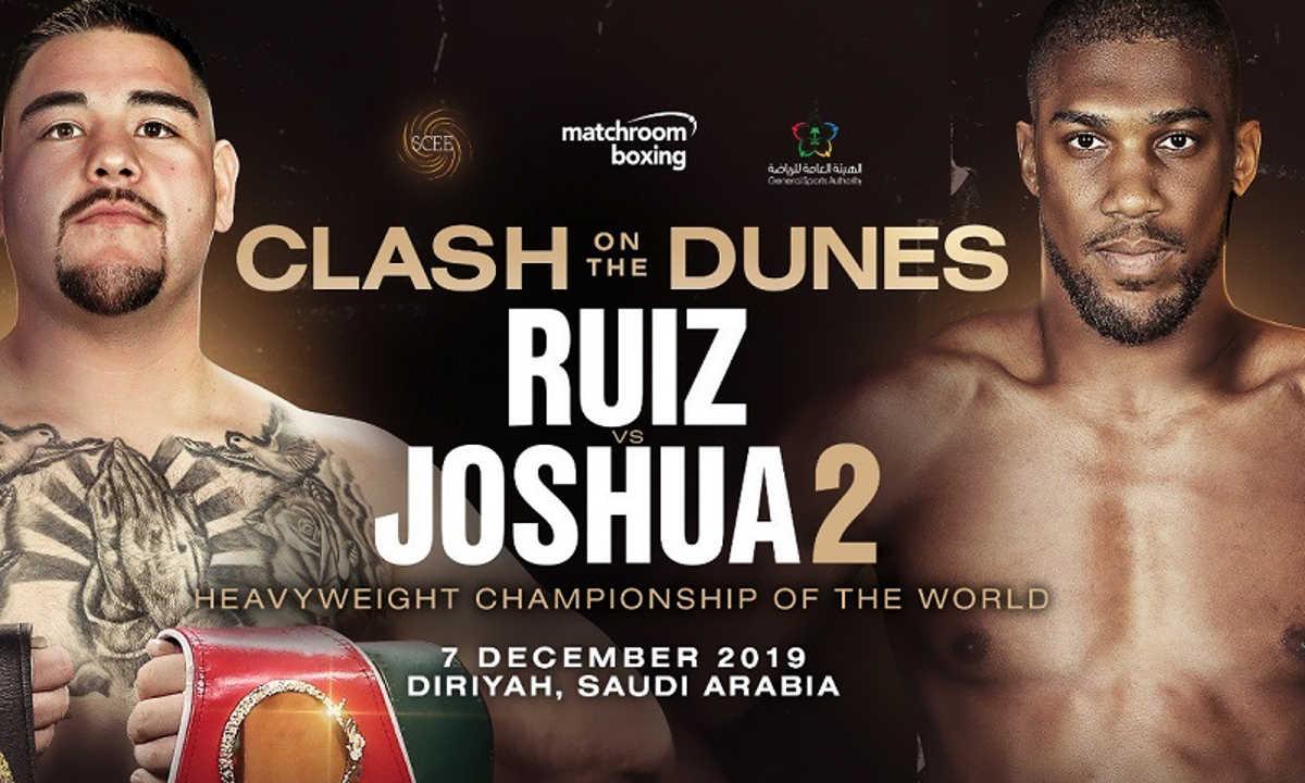 Sabato Joshua prova a riprendersi il titolo dei massimi nella rivincita contro Ruiz