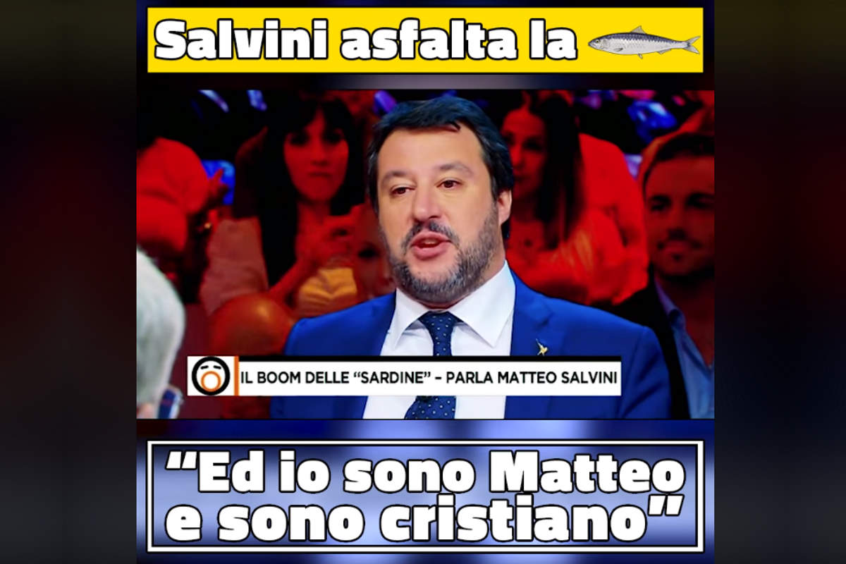 Le sardine dimostrano che per Salvini fare politica è trovare qualcuno da odiare