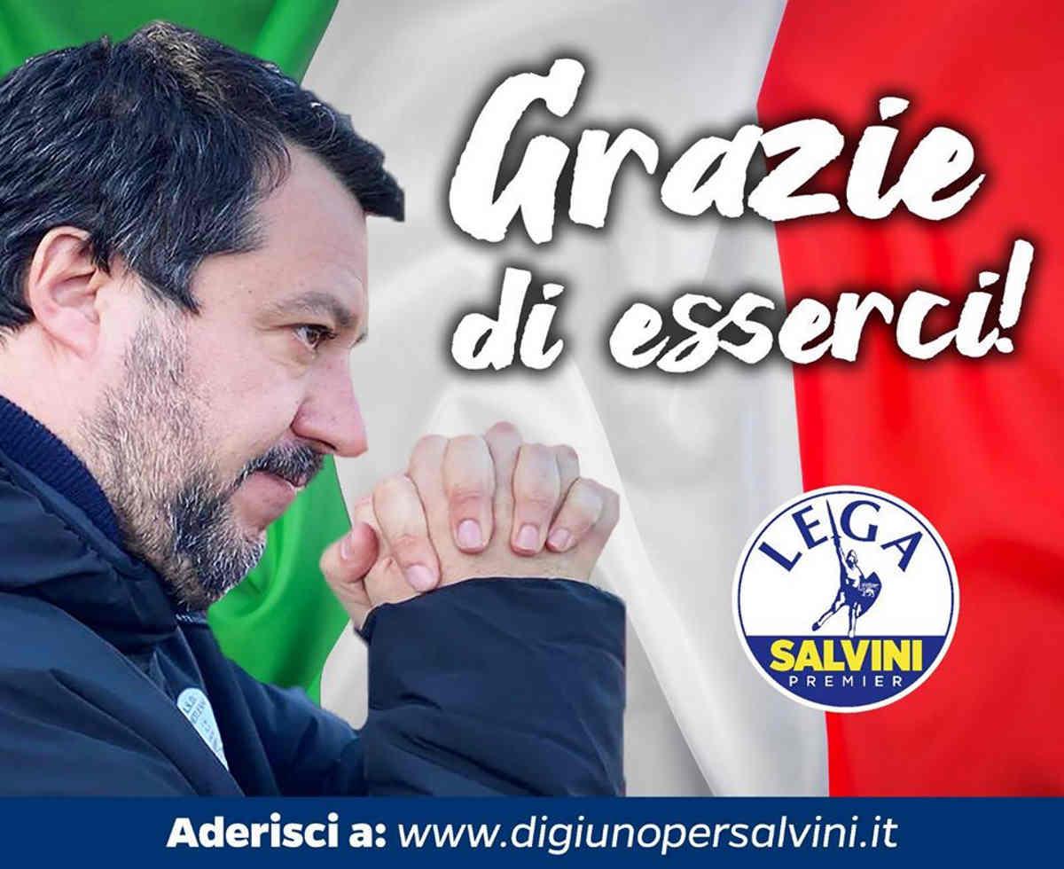 Fratelli, digiuniamo in segno di solidarietà per san Matteo Salvini