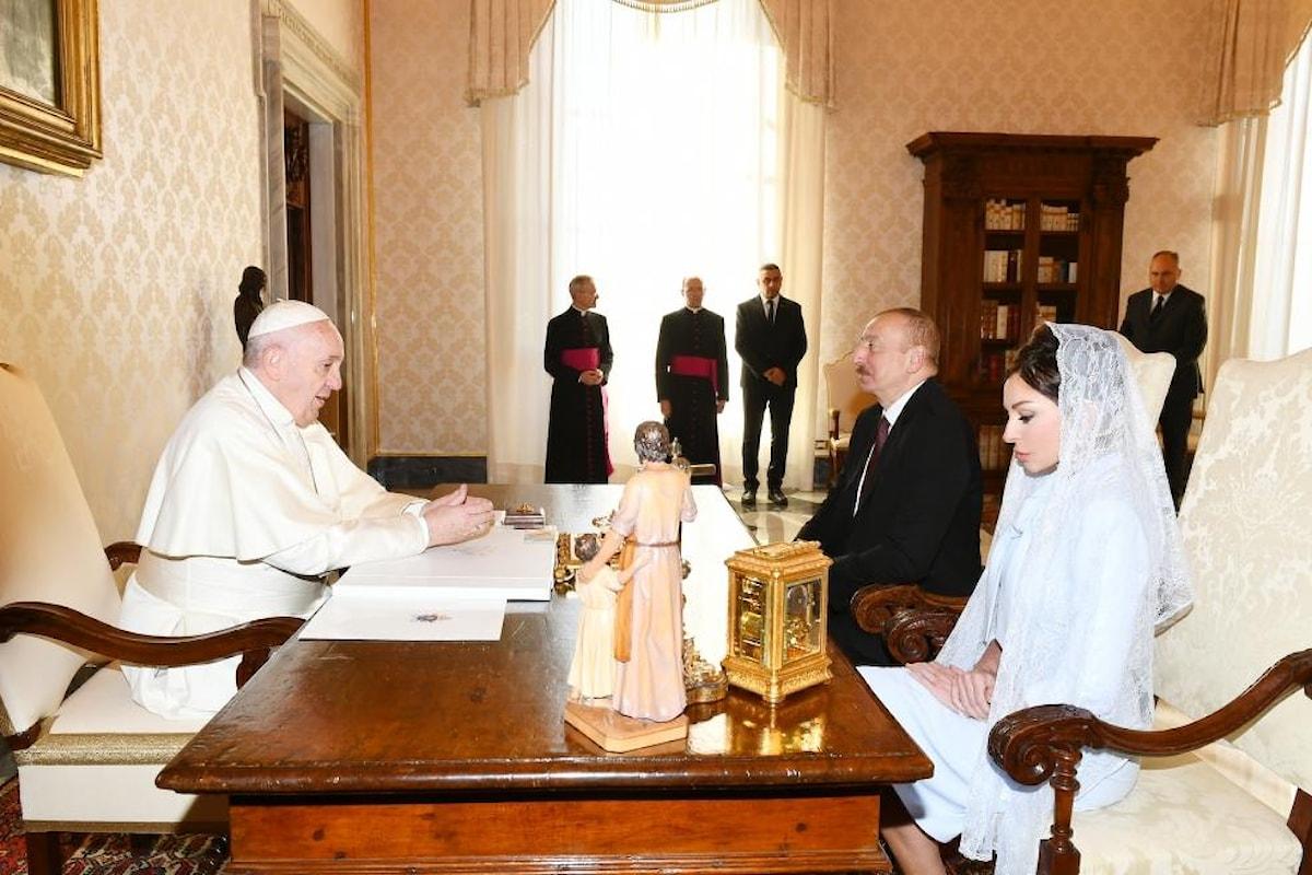 Papa Francesco ha ricevuto in Vaticano il Presidente dell'Azerbaigian