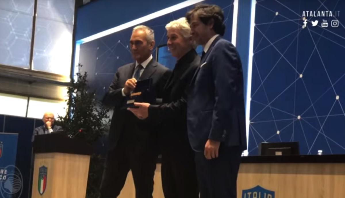 A Gasperini, Atalanta, la Panchina d'Oro per la stagione 2018-2019