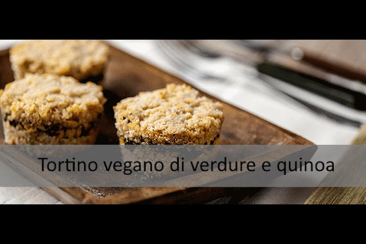 Ricetta senza glutine: Tortino vegano di verdure e quinoa