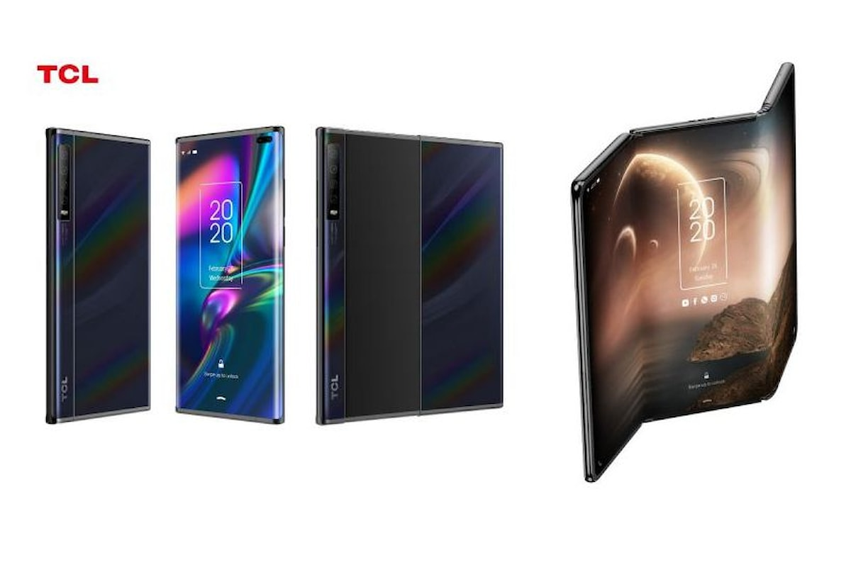 TCL Rollable e TCL Trifold: due concept smartphone con display arrotolabile e con display a doppia piegatura
