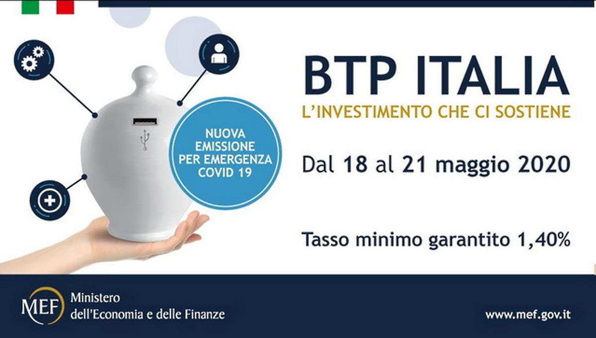 Dal 18 maggio è possibile sottoscrivere i Btp Covid a 5 anni