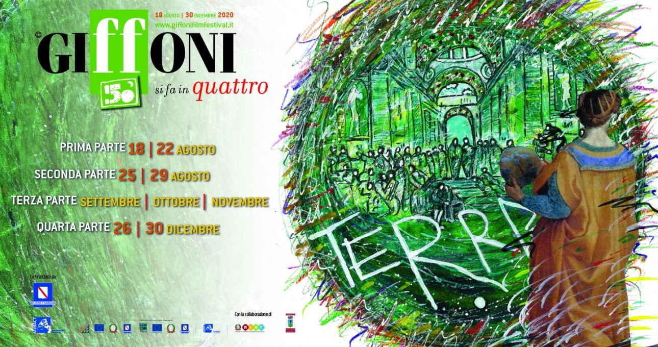 Per la sua 50ª edizione il Giffoni Film Festival si fa in quattro iniziando dal 18 al 22 agosto