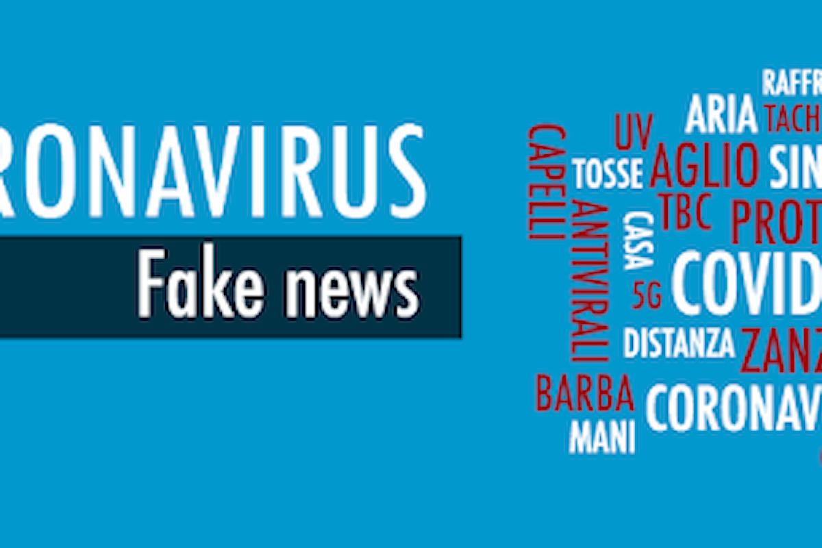 Pandemia da Covid-19: Attenti alle false notizie