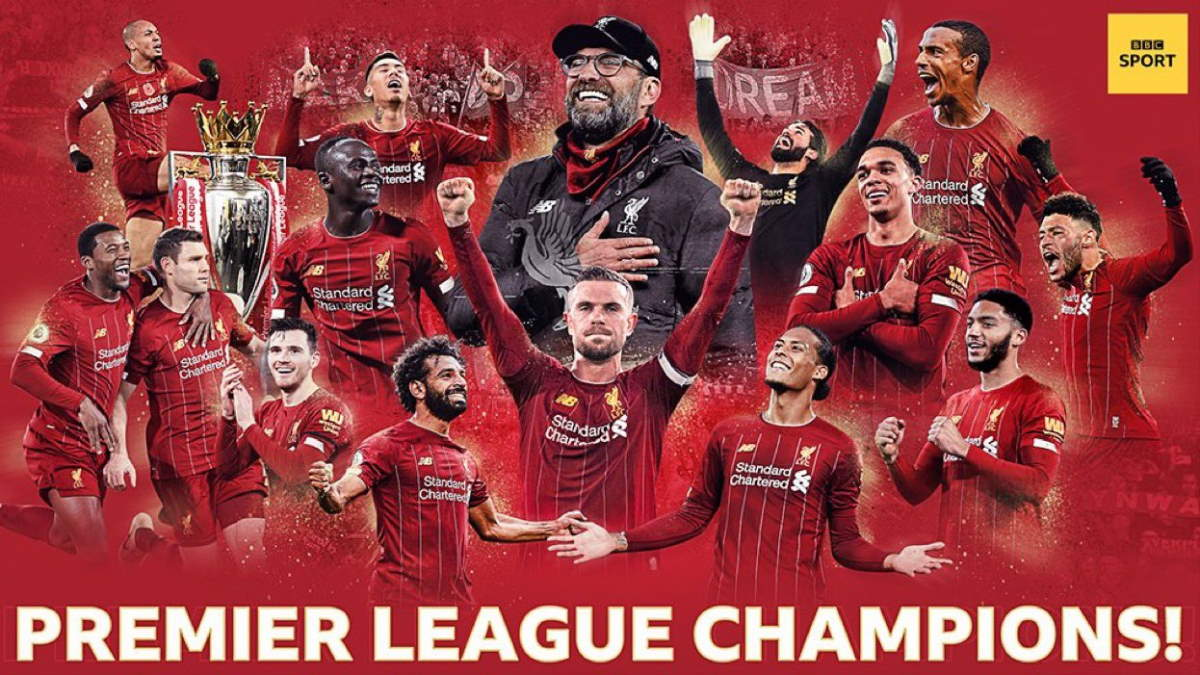 Dopo 30 anni il Liverpool torna a vincere il campionato: è il 19° titolo conquistato dalla stagione 1900/1901