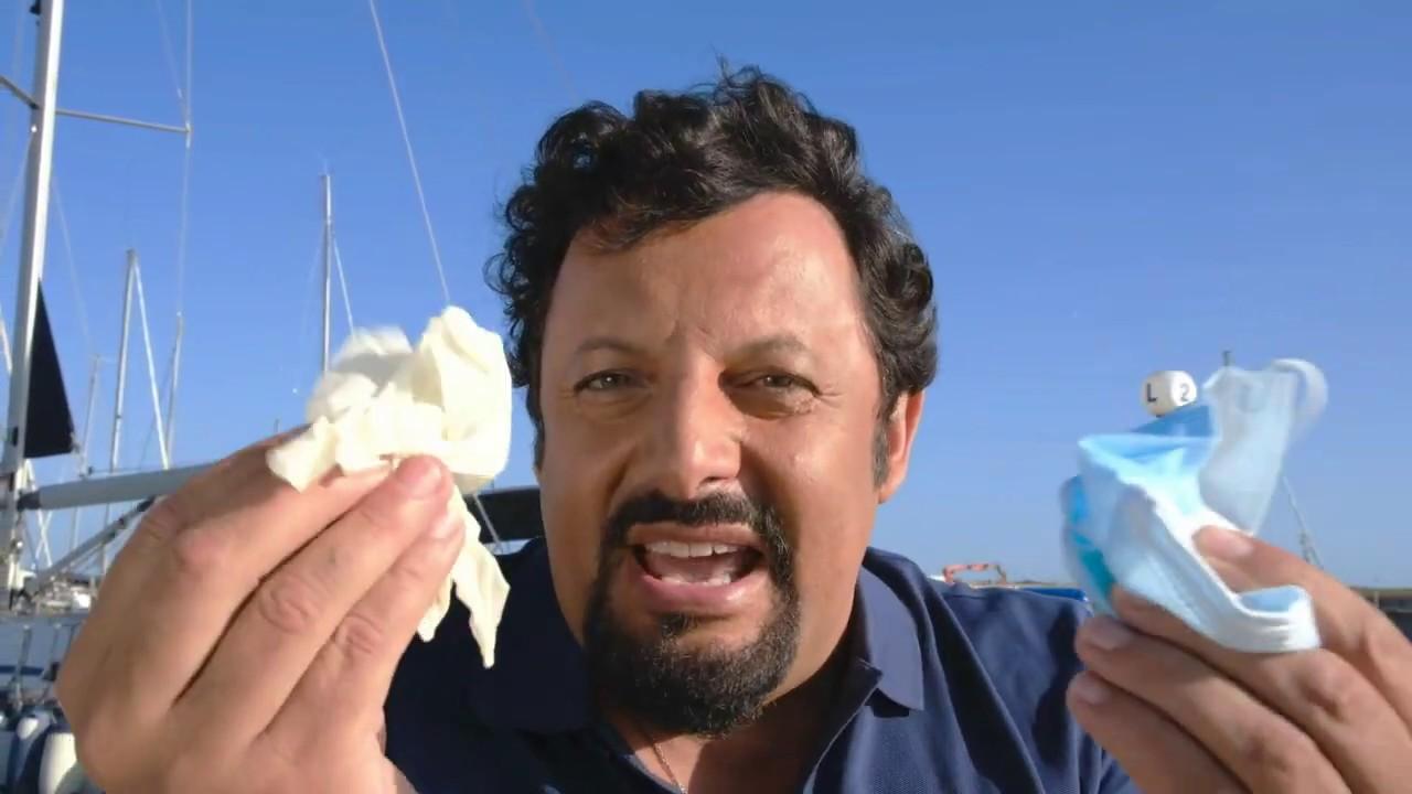 Alla Natura Non Servono, campagna smaltimento corretto di mascherine e guanti con Enrico Brignano
