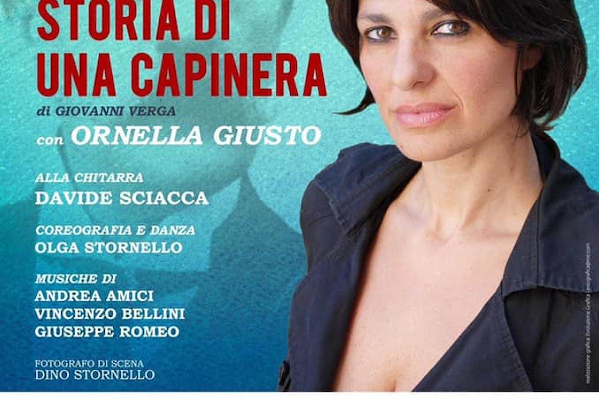 Ornella Giusto torna sul palco con STORIA DI UNA CAPINERA di Verga