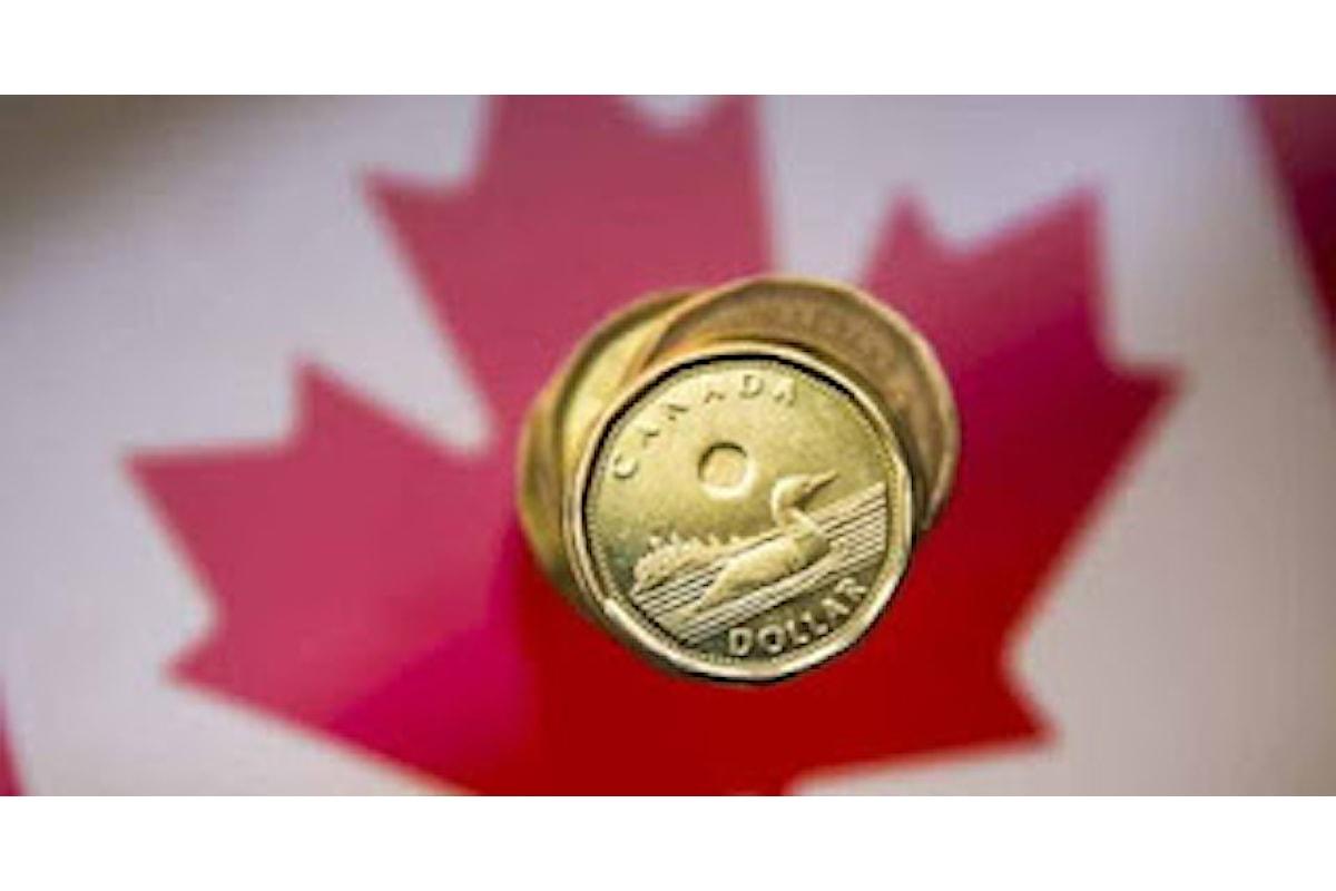 Valute, finisce con un flop la settimana del dollaro canadese