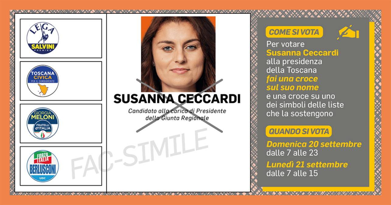 Vota Ceccardi presidente...