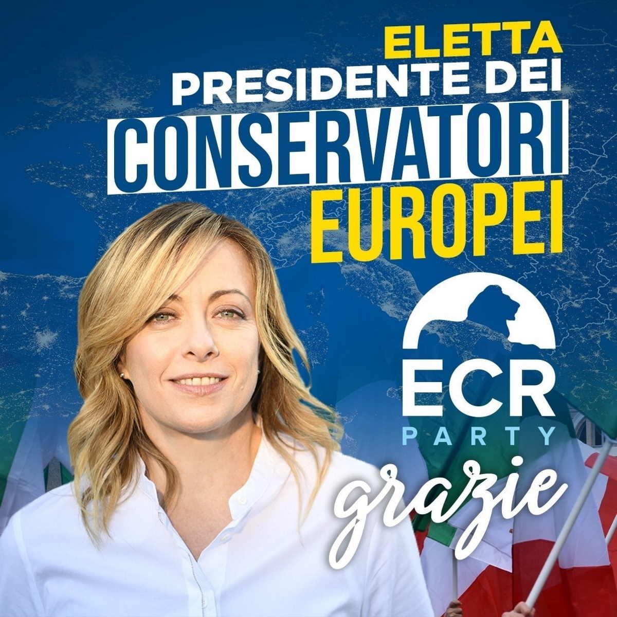 Giorgia Meloni eletta presidente di ECR