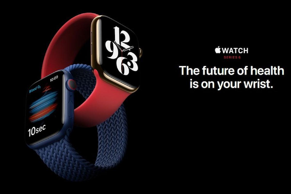 Apple Watch Series 6 è stato presentato ufficialmente: il re degli smartwatch