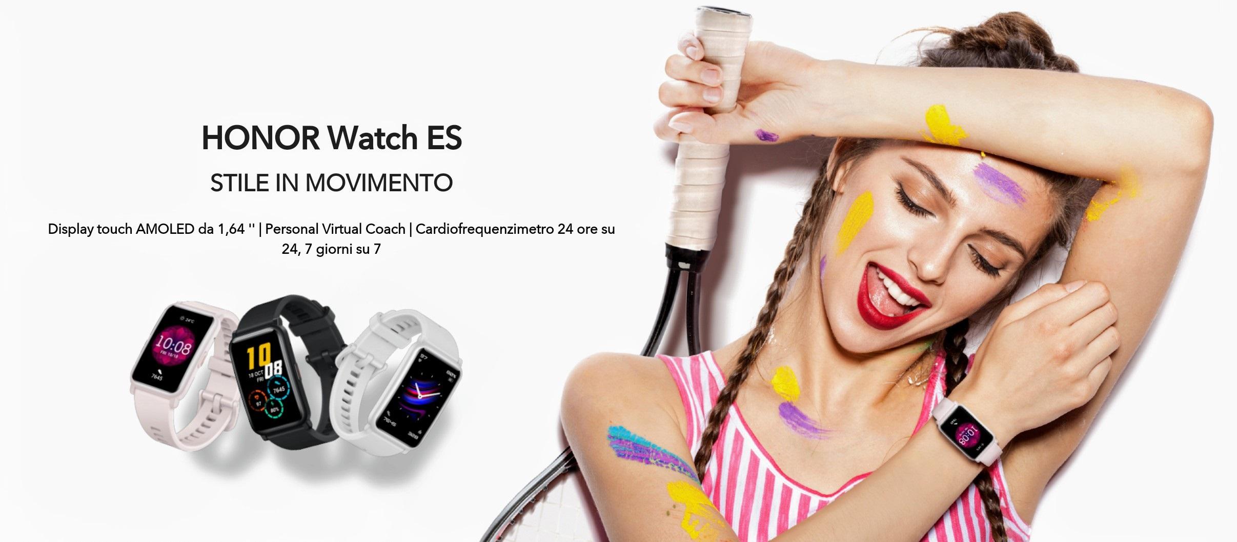 HONOR Watch ES è stato presentato ufficialmente: uno smartwatch molto interessante