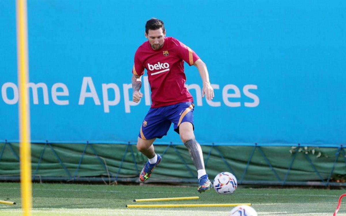 Lunedì Messi di nuovo in campo con la maglia del Barcellona