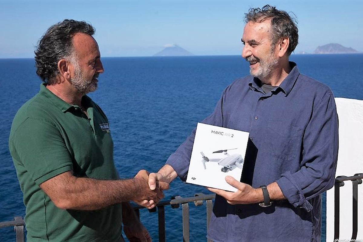Salina (ME) - Donato alla Città Metropolitana di Messina un drone per il monitoraggio della riserva naturale