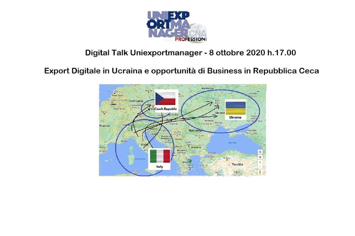Uniexportmanager - webinar 8 ottobre sull'export Export Digitale in Ucraina e opportunità business in Repubblica Ceca