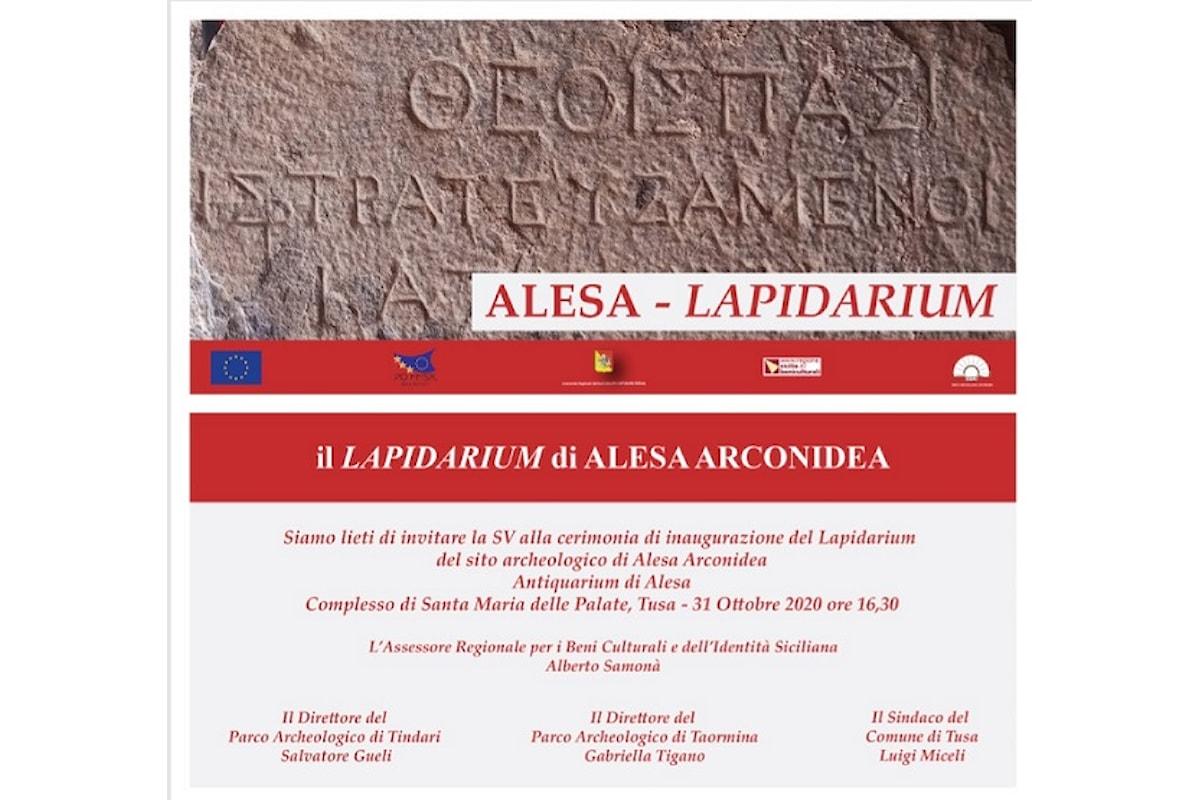 Tusa (ME) – Apre il nuovo Lapidarium di Alesa Arconidea