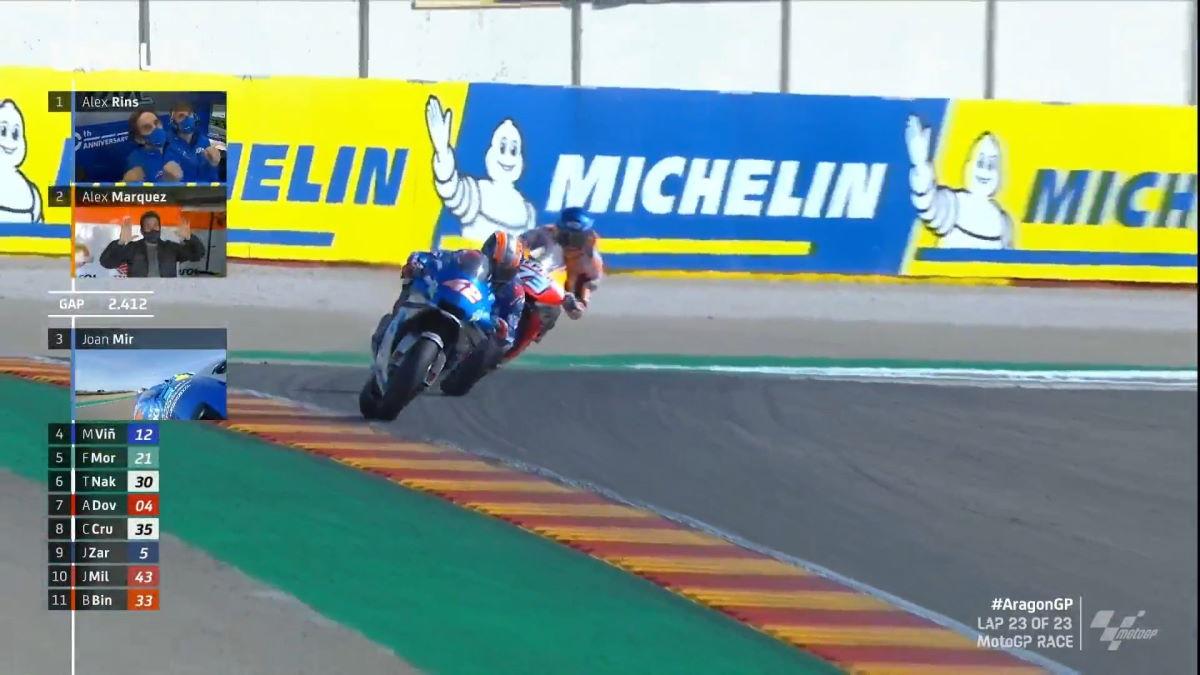MotoGP, è Rins ad aggiudicarsi il GP di Aragona