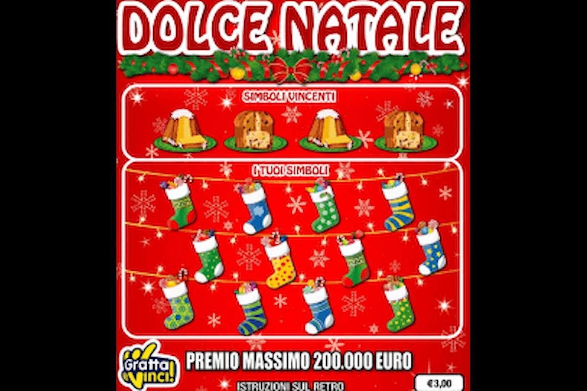Natale 2020, il nuovo Gratta e Vinci Dolce Natale, vincite fino a 200.000€