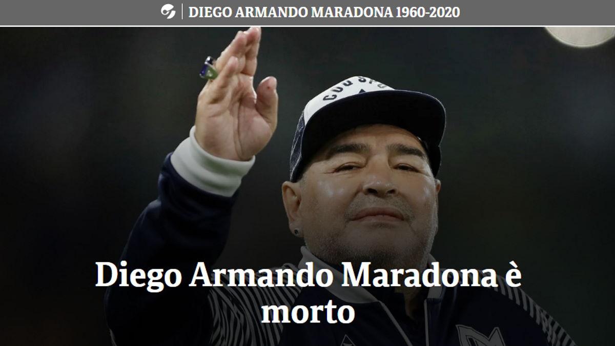 È morto all'età di 60 anni Diego Armando Maradona