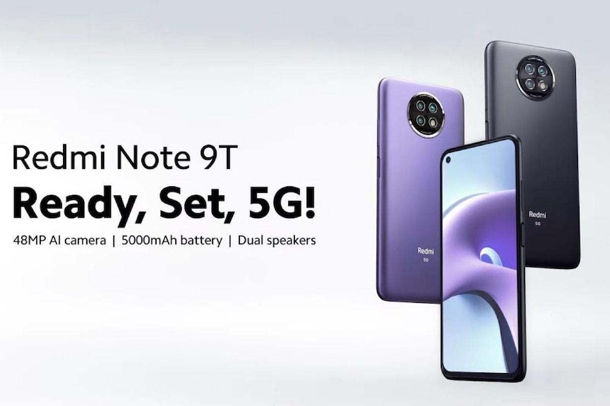 Redmi Note 9T è stato presentato ufficialmente: uno smartphone 5G dual SIM molto interessante