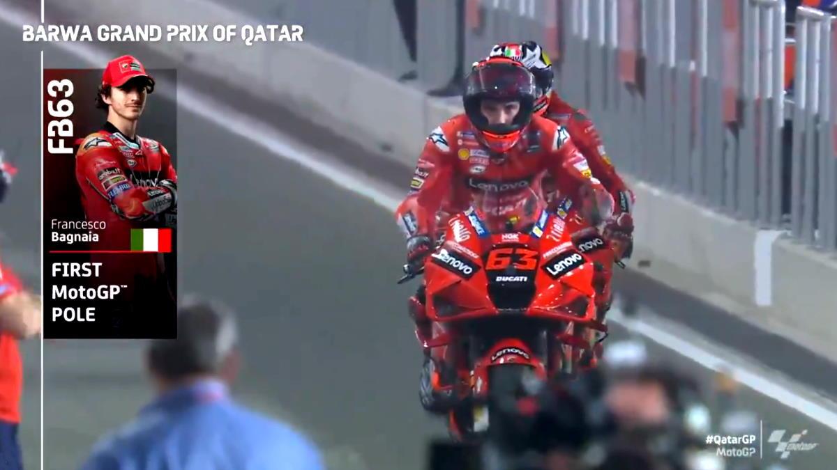 MotoGP, è di Pecco Bagnaia la prima pole della stagione 2021 nel GP del Qatar