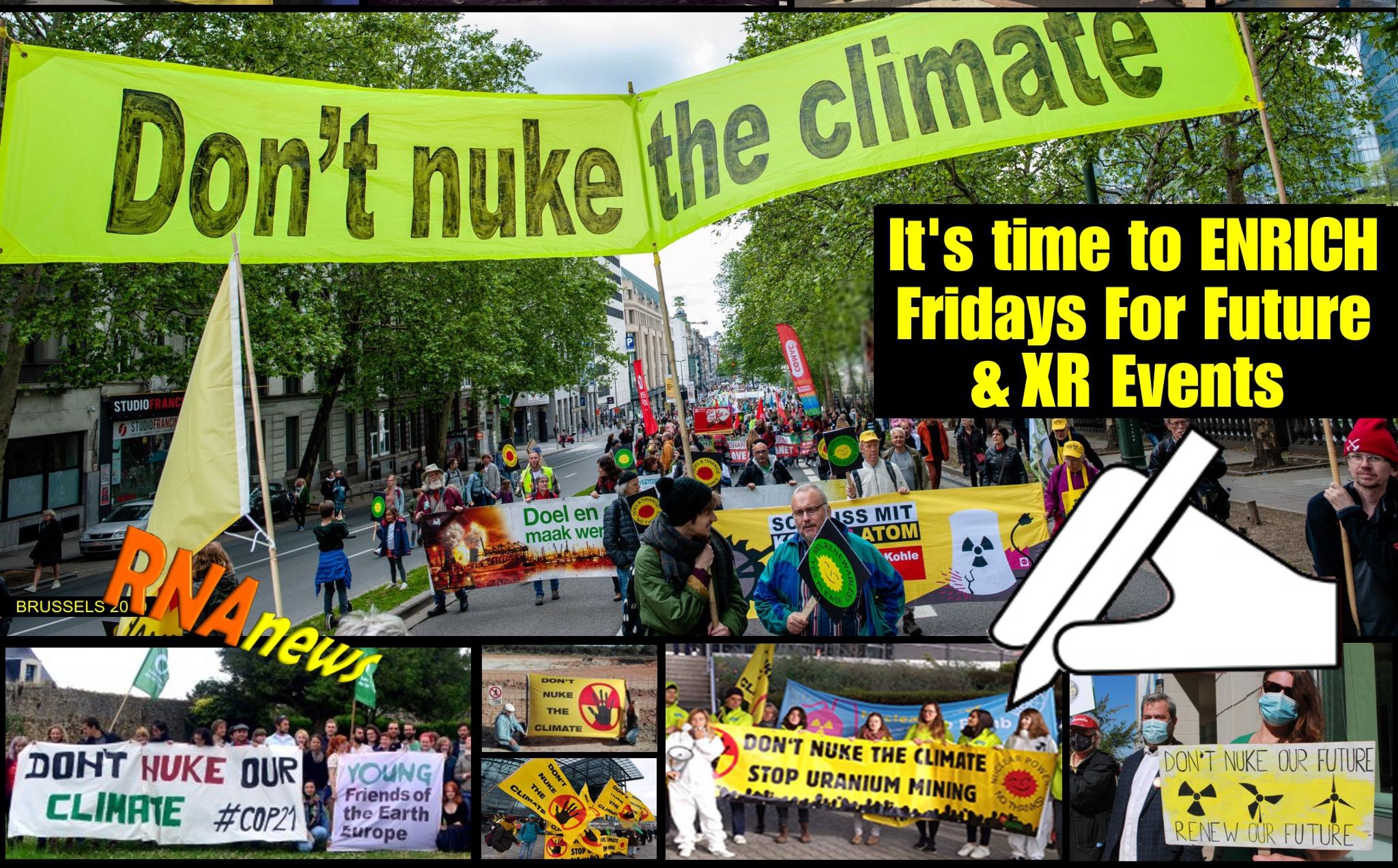 PLEASE SAY SOMETHING ABOUT NUCLEAR! - Appello internazionale di RNA ai leaders di Extinction Rebellion e Fridays For Future