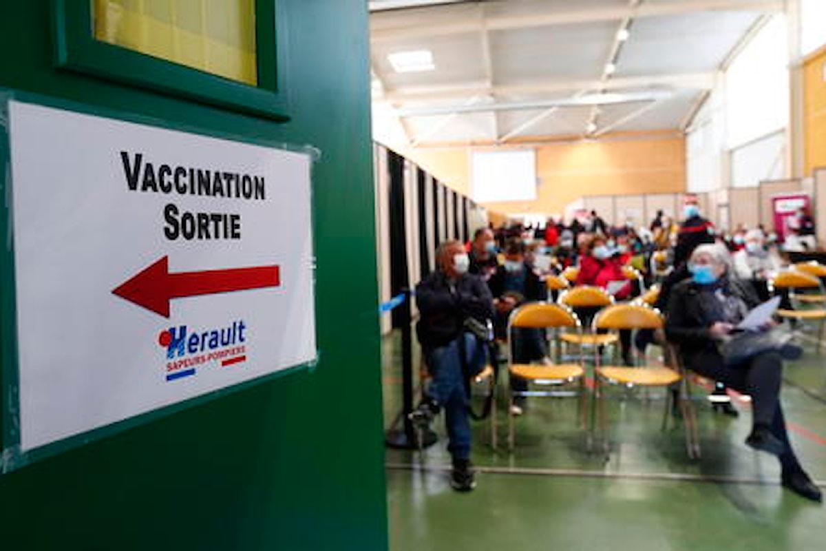 Covid: la Francia registra altri 9 casi di trombosi dopo AstraZeneca tra il 2 e l'8 aprile