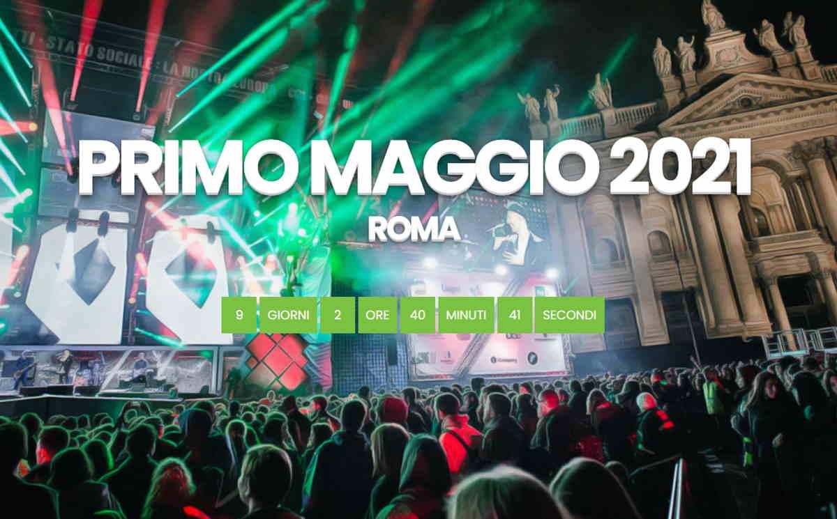 Lavori in corso per il tradizionale Concertone del Primo Maggio a Roma