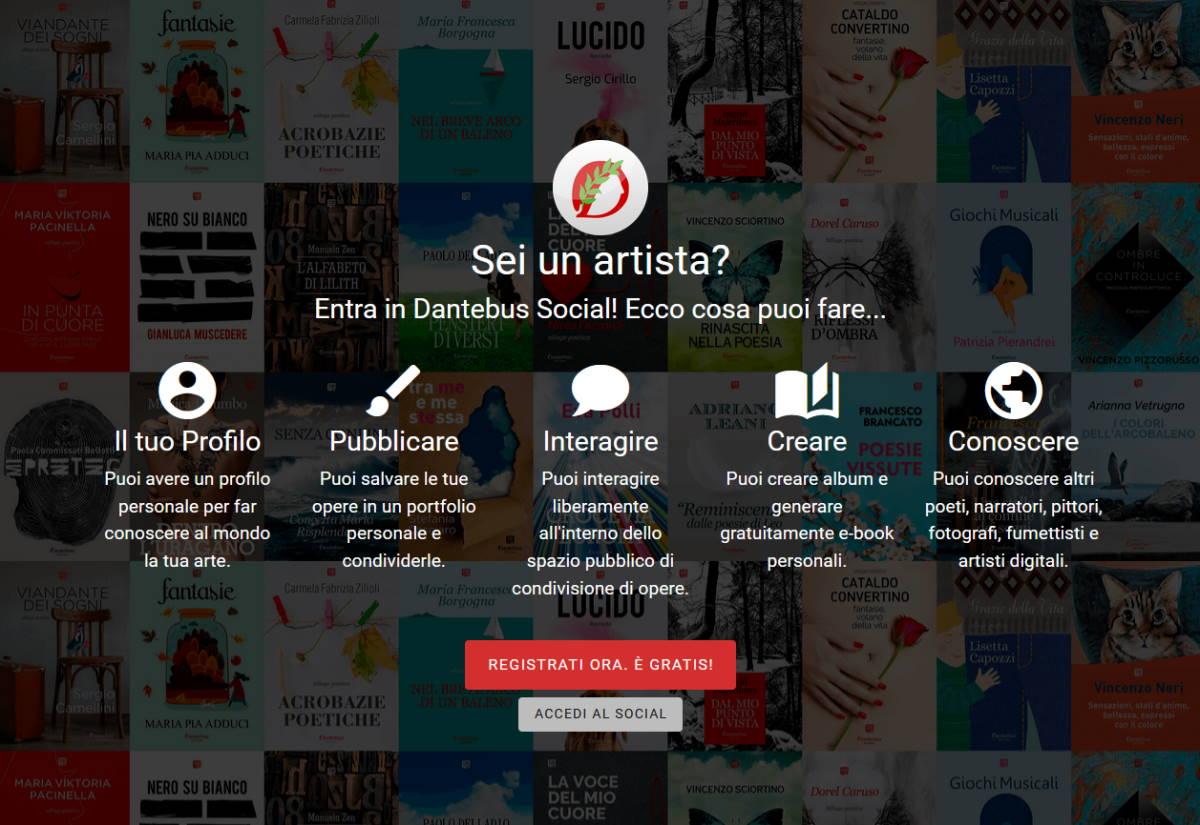 Dantebus, una Casa Editrice e una Galleria d'Arte nate da un social network per artisti