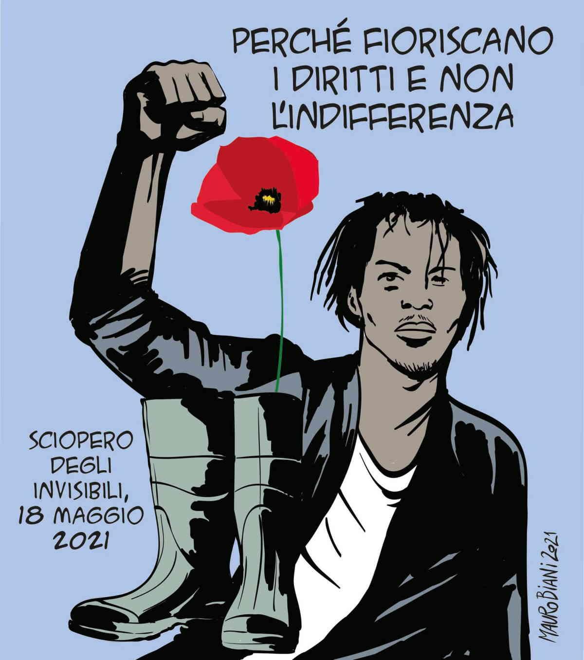 A Roma la protesta degli invisibili guidata da Aboubakar Soumahoro