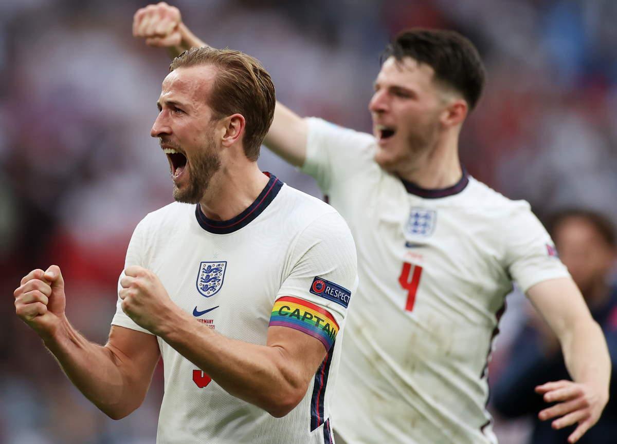Euro 2020, agli ottavi l'Inghilterra batte la Germania con un netto 2-0