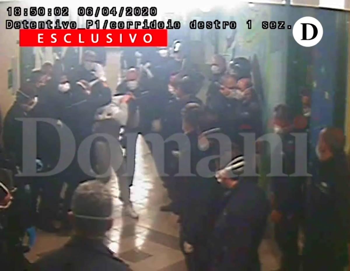 Le immagini che spiegano gli arresti degli agenti di custodia del carcere di Santa Maria Capua Vetere