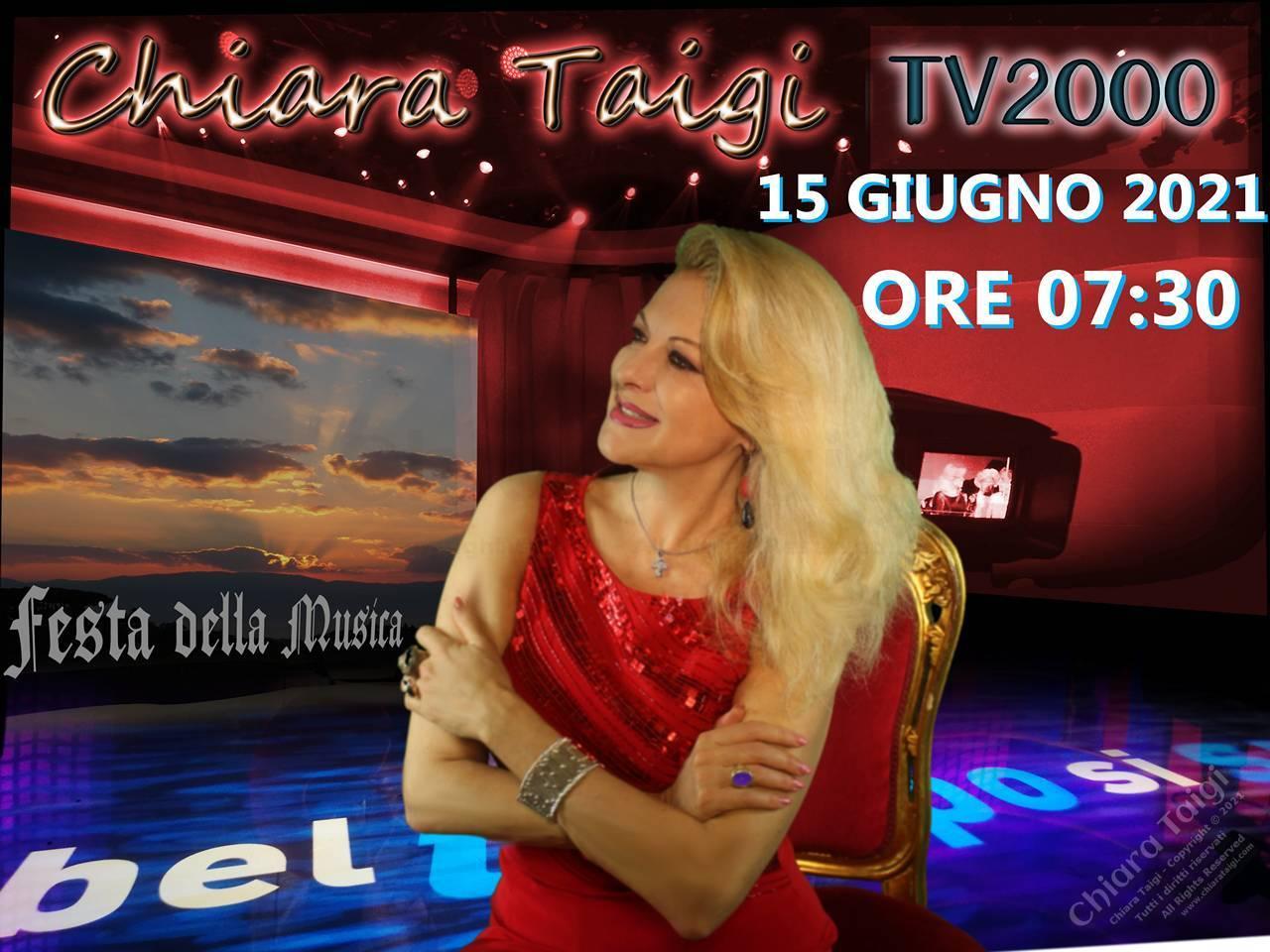CHIARA TAIGI - Appuntamento su TV2000 il 15 Giugno 2021 - Ore 7:30