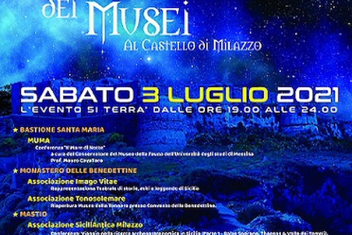 """Milazzo (ME) – Sabato 3 luglio la """"Notte dei Musei"""""""