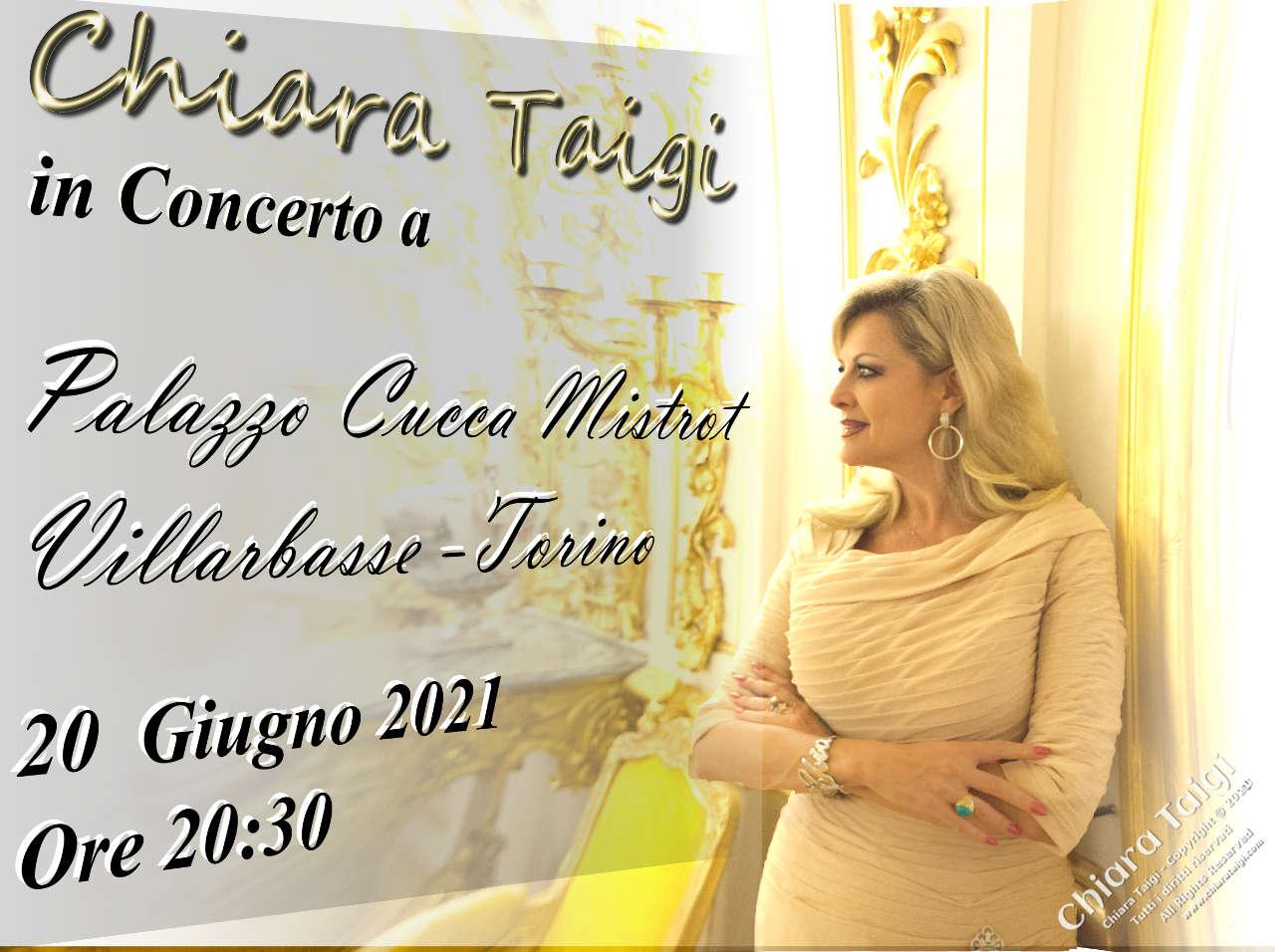 CHIARA TAIGI - Concerto della Speranza – Chiesa di San Nazario – Piazza delle Chiese - Villarbasse - Torino