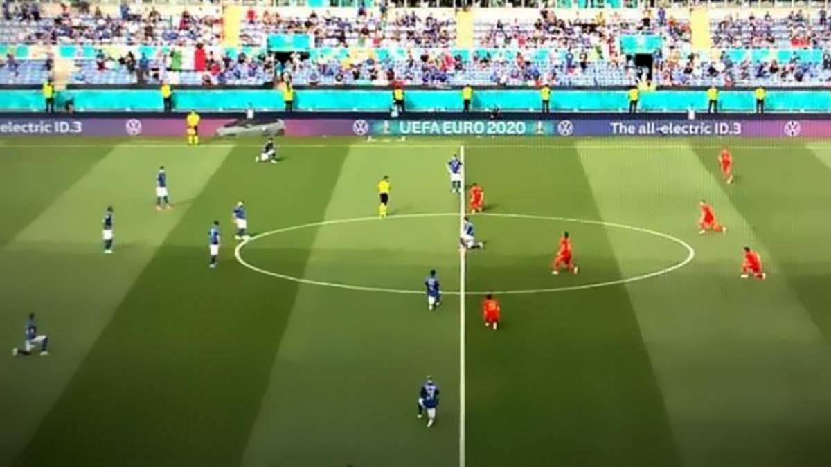 Gli azzurri si inginocchieranno prima della partita contro il Belgio in segno di solidarietà, ma non contro il razzismo?