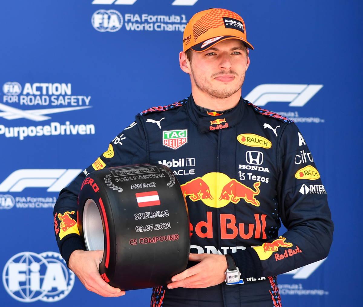 Formula 1, a Verstappen la pole anche del GP d'Austria